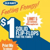 Flip Flop over to Old Navy