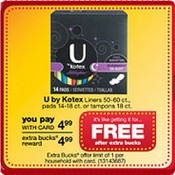 This week get FREE Kotex Pads & Tampons