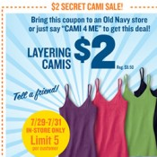 Secret Sale at Old Navy!! Stock up on Cami\'s!